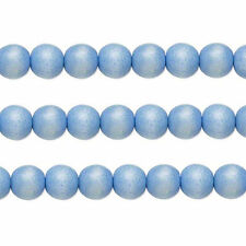 Wood Round Beads Light Blue 8mm 16 Inch Strand