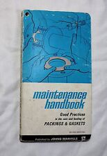Johns-Manville Maintenance Handbook Asbestos Packings & Gaskets 1964 Valve Pump