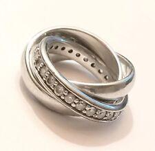 JOOP! Damen-Ring Dreifacher 925 Sterlingsilber Zirkonia, JPRG90003A510