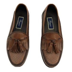 Bragano Cole Haan Calasio Loafer Tassel Shoes Mens 7.5 Leather Nutmeg