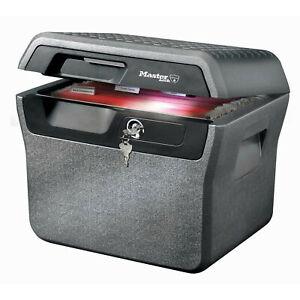 Master-Lock Gr XL Feuerfeste Wasserdichte Dokumentenkassette Dokumenten-Box Safe