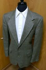 Mens Blazer Sport coat Jacket Oscar De La Renta 40r Multi plaid 100% Wool N#113