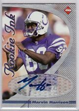 Indianapolis Colts MARVIN HARRISON autograph signed Collectors Edge ROOKIE card