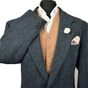 Harris Tweed Tailored Country Textured Blazer Jacket 48S #998 SUPERB CLOTH