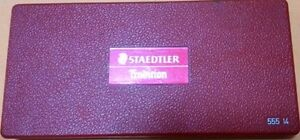 Set 2 - STAEDTLER  Precision Drawing Instruments {Stainless Steel}