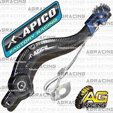 Apico Black Blue Rear Brake Pedal Lever For Husqvarna TE 250 2015 MotoX Enduro