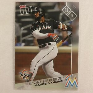 2017 Topps Now Card #AS-8: Miami Marlins Marcell Ozuna