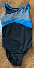 New listing JUSTICE Active girls leotard gymnastics  black gray blue size 8