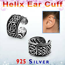 Ohrring Klemmer helix ear cuff Fake Piercing kein Ohrloch Silber 925 Celt. Snake