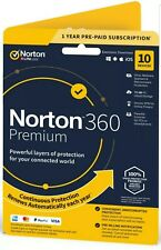 Norton 360 PREMIUM 2020 OFFICIAL Antivirus 10 Devices|1 Year+75Gb Cloud and VPN