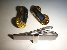US Militär Leutnant Rang Krawatte Spange Verbindung + Paar Metall Anstecker