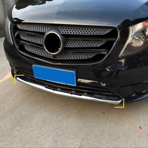 For Benz Vito W447 2014-2020 Chrome Front Bottom Bumper Protector Cover Trim 1PC
