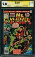 Ms. Marvel #1 CGC 9.8 NM/MT SIGNED LEE ROMITA SINNOTT CONWAY 1st CAPTAIN 4x