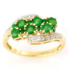 Handmade Emerald Cocktail Fine Rings