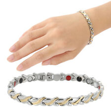 Women's 316L Titanium Steel Therapy Energy Magnetic Bracelet Health Care Chain