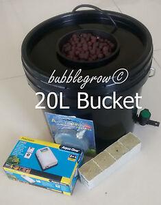 Bubble Grow 1X SHOT Hydroponic Bubbleponic DWC Plant Growing Kit System Bubbler