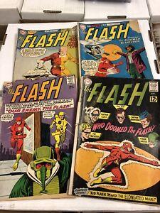 The Flash #116, 118, 130, 147 silver age DC comics reader copies lot 1960 usa