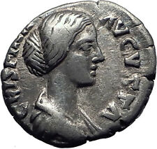 CRISPINA wife of Commodus 180AD Rome Authentic Ancient Silver Roman Coin i63330