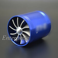 Double Dual F1-Z Air Intake Supercharger Turbo Turbonat Turbine Fuel Saver Fan