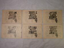 AK 6x alte Ansichtskarte Prof. Kluge's Sprachenpostkarte Russisch Deutsch Ser. 3