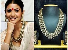 Kundan Necklace Set Jewelry Gold Bollywood Plated Indian Bridal Fashion Ethnic