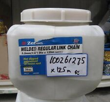 Zenith WELDED REGULAR LINK CHAIN - 3.2mm x 125m 70KG Rust Resistant