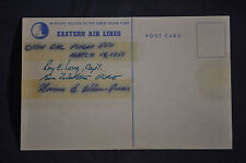 1951 Flight #550 *SIGNED* Eastern Airlines Postcard