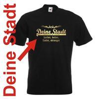 Damen T-Shirt Girlie Shirt mit Wunschtext Stadt oder Namen Wunschdruck GOFU13-01