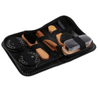 8pcs Professional Shoe Care Kit Shoe Shine Brush Kit for Leather Suede Boot