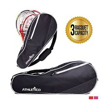 Athletico 3 Racquet Tennis Bag | Padded to Protect Rackets & Lightweight | Pr.