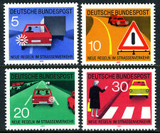 Germany 1059-1062,MNH. Traffic Signs. Signal to Pass, Warning signal, 1971