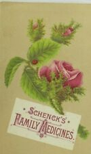 1870's-80's Schenck's Family Medicines, Mandrake Pills Trade Card P113