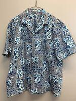 Royal Creations Hawaii Men's Short Sleeve Button Down Casual Shirt Size XL