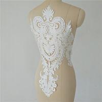 Lace Floral Motif Applique Embroidery Patch Sew DIY Wedding Bridal Dress Craft