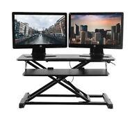 TechOrbits Standing Desk Converter - Desk Height Adjustable Sit Stand Up Desk