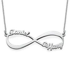 Mother Child name necklace, New baby gift, Infinity symbol charm, name neckless