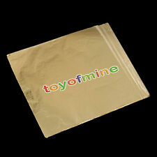 100sheets Imitation Gold Silver Copper Leaf Foil Paper Gilding Art Craft 16x16cm