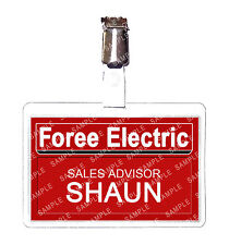 Shaun of the Dead Foree Electric ID Badge Card Cosplay Prop Comic Con Comic Con
