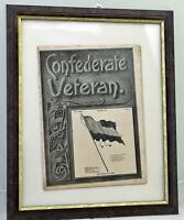 Framed Confederate Veteran XXIX March 1921 Stars and Bars First Flag Cover