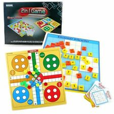 LUDO + SUDOKU FAMILY PARTY TRAVEL BOARD NUMBER PUZZLE GAME KIDS EDUCATIONAL TOY