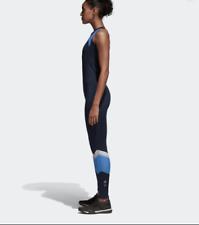 Adidas Womens Body JUMP  Suit  BLUE medium new full