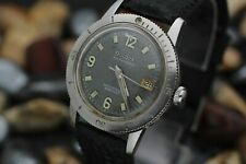 C. 1967 BULOVA Automatic 666 Stainless Steel Tropical Dial Divers Watch