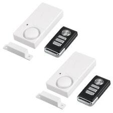 2 Packs Security Window Door Detector Burglar Alarm with Wireless Remote Control