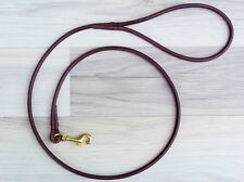 Premium Round Leather Dog Show CLIP Lead  Handmade by KORBELL LEADS