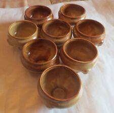 8 bols à potage chamarrés brun en Grès terre cuite vernie, service de table Soup