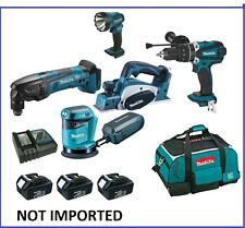 MAKITA 18V 5PCS COMBO KIT WITH HAMMER DRILL & 3 BATTERIES