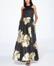 Tahari ASL Floral Halter Gown MSRP $269 Size 16 # CN 2310 NEW
