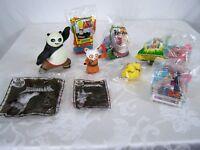 Lot of 8 Toys Wendy's McDonald's Burger King Kung Fu Panda Johnny Bravo