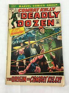 COMBAT KELLY DEADLY DOZEN #3  vintage 1972 Marvel Comic