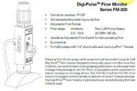 "LMI Milton Roy FM-302 Flow Monitor for Digipulse Pump, Legacy LE 1/2"" Ball"
